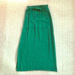 Forever 21 Emerald Maxi Skirt